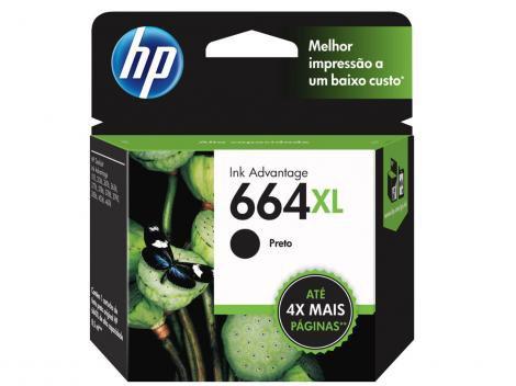 Cartucho de Tinta HP Preto 664 XL Original P/ - HP 2136 2676 3776 5076 5276