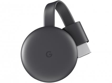 Chromecast 3 Streaming Device Google - Full HD Conexão HDMI