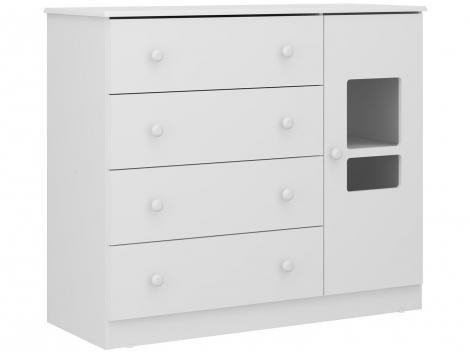 Cômoda Infantil 1 Porta 4 Gavetas Multimóveis - Travessura Plus 2674156