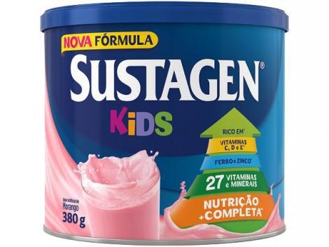 Complemento Alimentar Sustagen Kids - 380g 1 Unidade Morango