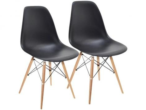 Conjunto de Cadeiras Pé Palito 2 Peças Garden Life - Eames Wood