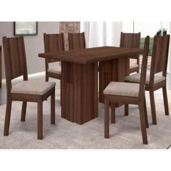 Conjunto de Mesa Cena com 6 cadeiras - Madeiro TX - Dj Móveis
