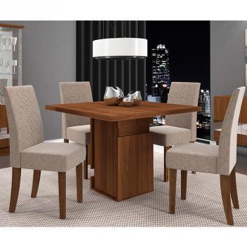 Conjunto de Mesa New Napoli com 4 cadeiras - Dj Móveis
