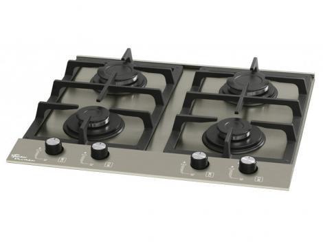 Cooktop 4 Bocas Fischer Platinum  - à Gás Natural e GLP Acendimento Superautomático