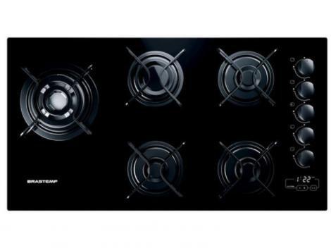 Cooktop 5 Bocas Brastemp Ative! BDT85  - à Gás Natural e GLP Acendimento Superautomático