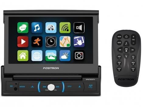 "DVD Automotivo Pósitron SP6730DTV LCD 7"" - Retrátil Touch Bluetooth 4x20 Watts RMS"