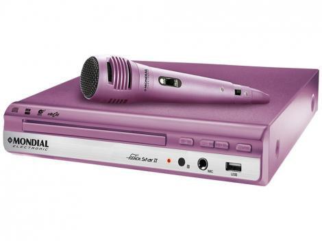 DVD Player Mondial Fashion Star II - Função Karaokê USB
