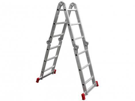 Escada de Alumínio Articulada Botafogo - 12 Degrau 3x4