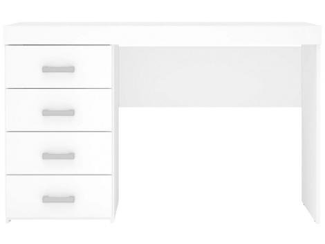 Escrivaninha/Mesa para Computador 4 Gavetas - Politorno Malta 1179 BRANCO
