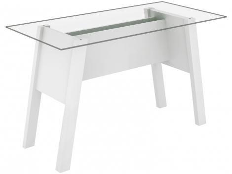 Escrivaninha para Escritório Tampo de Vidro - Tecno Mobili ME4134