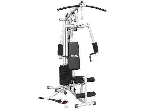 Estação/Aparelho de Musculação Kikos GX Supreme - mais de 25 Opções de Exercícios Carga de 45kg