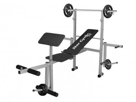 Estação/Aparelho de Musculação StarGym S500  - 2 Anilhas 5kg 2 Anilhas 2kg 2 Anilhas 1kg
