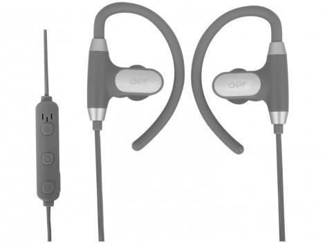Fone de Ouvido Bluetooth Geonav Intra Auricular - com Microfone Esportivo Preto Aer Sports