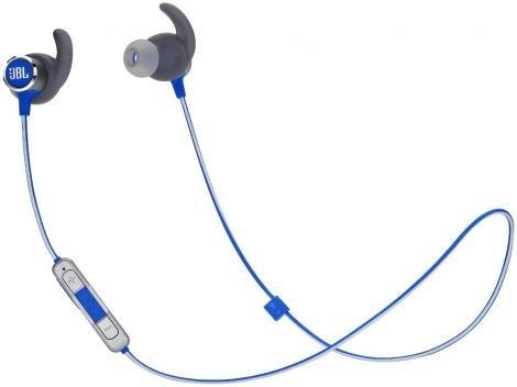 Fone de Ouvido Bluetooth JBL Intra Auricular - com Microfone Esportivo Azul Resistente à Água