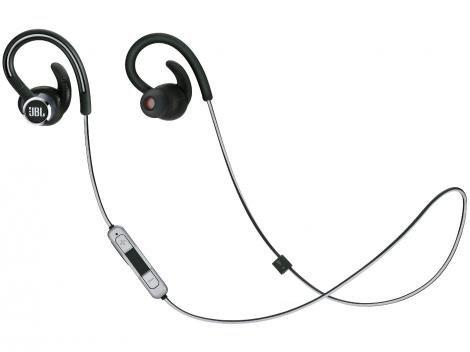 Fone de Ouvido Bluetooth JBL Intra-auricular - com Microfone Esportivo Resistente à Água Preto