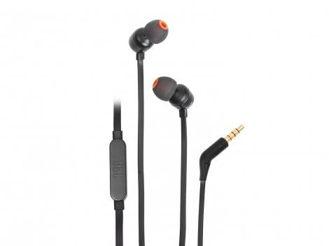 Fone de Ouvido JBL Intra-Auricular - com Microfone Preto T110