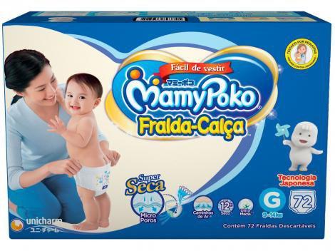 Fraldas Calça MamyPoko Tam. G 72 Unidades - Dupla Proteção