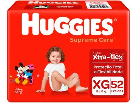 Fraldas Huggies Supreme Care Tam XG  - 52 Unidades