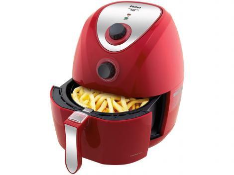 Fritadeira Elétrica Sem Óleo/Air Fryer Philco - Air Fry Saúde Vermelha 3,2L com Timer