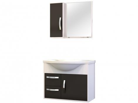 Gabinete para Banheiro Espelheira 1 Porta - 2 Gavetas Cerocha Apus 60