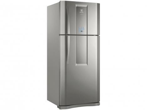 Geladeira/Refrigerador Electrolux Inox Frost Free  - Duplex 553L Painel Blue Touch DF82X