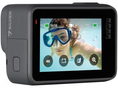 "GoPro Hero 7 Silver À prova de Água 10MP Wi-Fi - Bluetooth Display 2"" Touch"