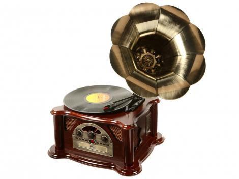 Gramophone Ribeiro e Pavani CD USB e SD Card  - Rádio AM/FM