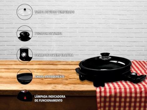 Grill Lenoxx Pratic 1500W  - Controle de Temperatura