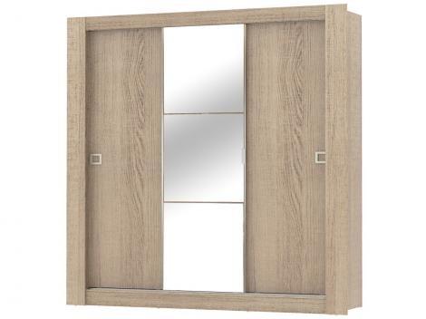 Guarda-roupa Casal 3 Portas de correr Madesa - City com Espelho