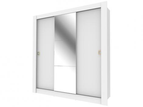 Guarda-roupa Casal 3 Portas Madesa - City 1056-1E com Espelho