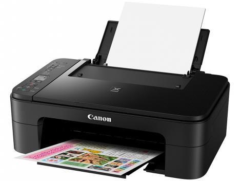 "Impressora Multifuncional Canon TS 3110 - Jato de Tinta Wi-Fi Colorida LCD 1,5"" USB"