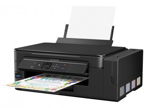 "Impressora Multifuncional Epson EcoTank L495 - Tanque de Tinta Colorida LCD 1,44"" Wi-fi USB 2.0"