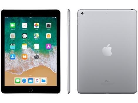 "iPad Apple 128GB Cinza Espacial Tela 9,7"" Retina - Proc. Chip A9 Câm. 8MP + Frontal iOS 11 Touch ID"
