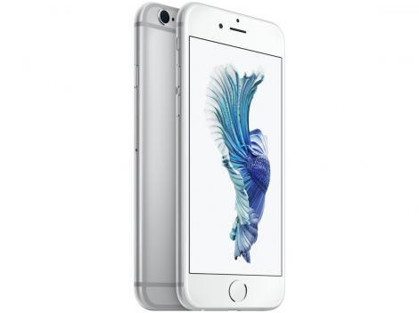 "iPhone 6s Apple 16GB Prata 4G Tela 4.7"" Retina - Câm. 12MP + Frontal 5MP iOS 10 Proc. Chip A9"