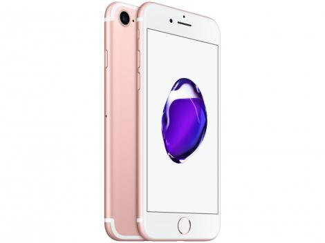 "iPhone 7 Apple 32GB Ouro Rosa 4G Tela 4.7"" Retina - Câm. 12MP + Selfie 7MP iOS 11 Proc. Chip A10"
