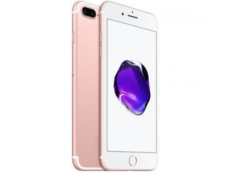 "iPhone 7 Plus Apple 32GB Ouro Rosa 4G Tela 5.5"" - Câm. 12MP + Selfie 7MP iOS 11 Proc. Chip A10"