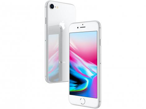 "iPhone 8 Apple 64GB Prata 4G Tela 4,7"" - Retina Câm. 12MP + Selfie 7MP iOS 11"