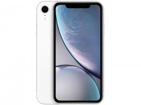 "iPhone XR Apple 64GB Branco 4G Tela 6,1"" Retina - Câmera 12MP + Selfie 7MP iOS12 Proc. Chip A12"