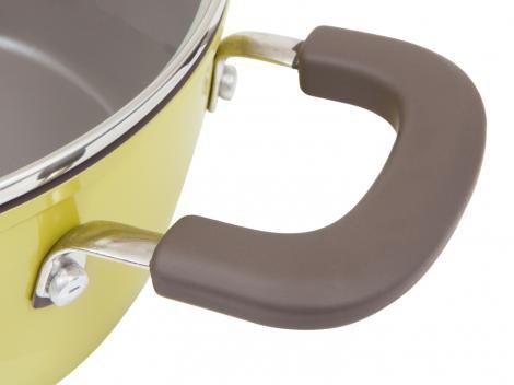 Jogo de Panelas Brinox Antiaderente de Alumínio - Pistache 5 Peças Ceramic Life Select