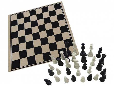 Jogo de Tabuleiro Xadrez 32 Peças Pangué - 722