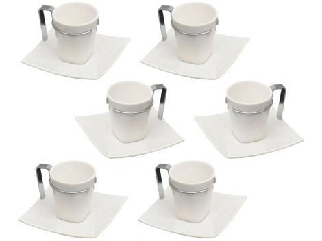 Jogo de Xícaras de Café Porcelana 6 Peças - Wolff Spril