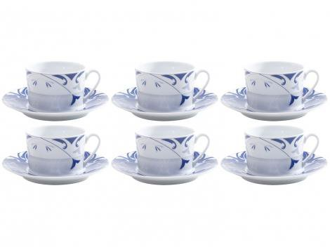 Jogo de Xícaras para Chá Porcelana 6 Peças Wolff  - Allegro
