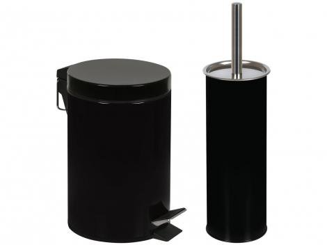 Kit Banheiro Lixeira 3L Escova Sanitária Mor - Ágata 008335