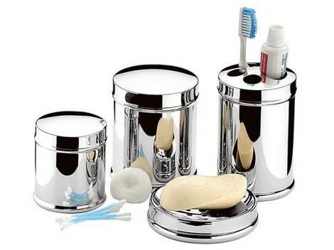 Kit para Banheiro 4 Peças Prata - Brinox Decorline 3056/100