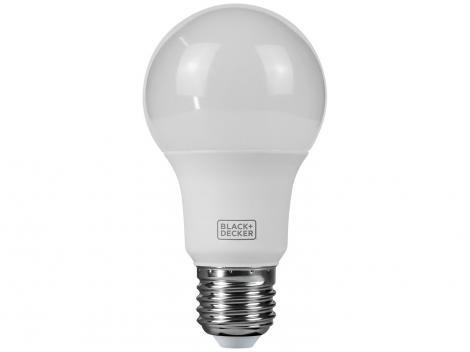 Lâmpada LED 6W 3000K Amarela Black + Decker - Bulbo A60