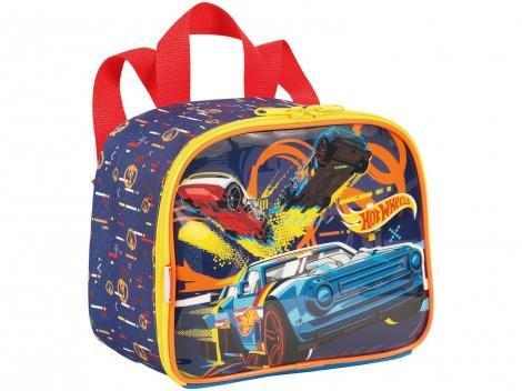 Lancheira Infantil Escolar Hot Wheels - Sestini 19M