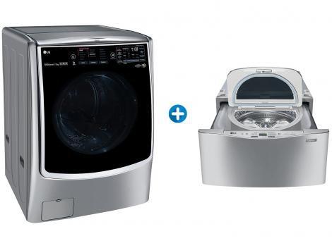 Lava e Seca LG 17Kg TWINWash 14 Programas  - de Lavagem + Lavadora de Roupas WD100CV.ASSF