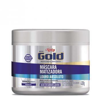 Máscara Matizadora Niely Gold Loiro Absoluto 430g - NIELY
