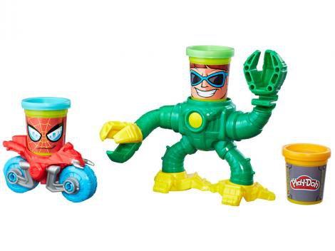 Massinha Spider Man vs Doc Ock Play Doh Marvel - com Acesórios Hasbro
