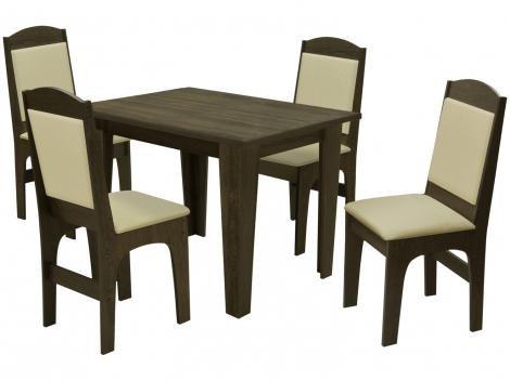 Mesa de Jantar 4 Cadeiras Quadrada - Dobuê Movelaria Espanha
